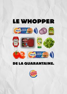 With fast food restaurants closed, Burger King France with agency Buzzman offers those in lockdown a chance to recreate the magic of the Whopper at home Ketchup, Burger King Uk, Free Kids Meals, Fast Food Restaurant, Cookies Policy, Advertising, France, Homemade, How To Make