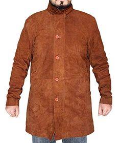 e6d72cf73b8 All Jacket Longmire Robert Sheriff Walt Robert Taylor Brown Suede Leather  Coat at Amazon Men s Clothing