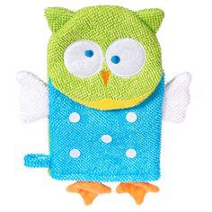 Waschhandschuh #Eule von Bieco | #Babyartikel.de