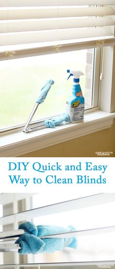DIY Quick and Easy Way to Clean Blinds!