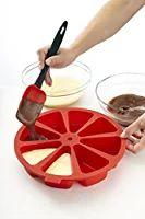 Lekue 8 Cavity Cake Portion Mold, Model # 0216008R01M017, Red
