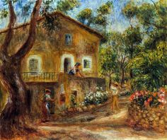 Renoir Paintings | ... -Auguste Renoir: House in Collett at Cagnes - Auguste Renoir Gallery