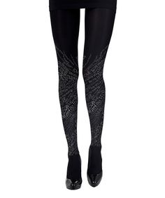 Another great find on #zulily! Black 'Love' Graffiti Tights by Zohara #zulilyfinds