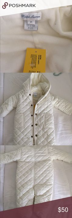 Ralph Lauren baby bunting suit One piece baby snow suit, full button up, fold over glove sleeves Polo by Ralph Lauren Jackets & Coats Puffers