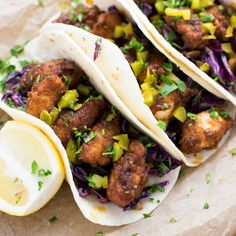 Nashville Hot Chicken Tacos with Dill Pickle Slaw