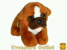 Build-A-Bear Stuffed Plush Mini Boxer Puppy Dog With Magnet 7in