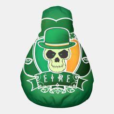 Irish Skull Pouf Crazy Home, Holiday Photos, Favorite Holiday, Back Home, Irish, Skull, Make It Yourself, Live, Pattern