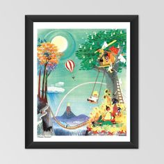 Moomin poster - The Rainbow House (Regnbågshuset) by Tove Jansson exclusively from… Moomin Shop, Rainbow House, Moomin Valley, Tove Jansson, Poster Making, Cool Artwork, Holiday Fun, Decorating Your Home, Childrens Books