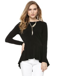 Every Woman's Wardrobe Needs at Least One Black Blouse : Awesome Black Blouse Ideas 1