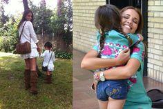 Paula Echevarria y su hija Lucía vestidas igual