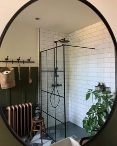 Mirror mirror on the wall.... That would be the shower that I now have to compete with my family to use. My boys have gone from every…