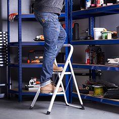 Delxo Folding 4 Step Ladder With Plastic Cushion Handgrip Anti Slip Sturdy And Wide