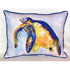 Swimming Sea Turtle Pillow