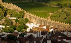 obidos portugal - had that exact view, as i was on the other side of the town, on the city wall. amazing!