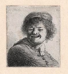 Self-Portrait in a Cap Laughing Rembrandt van Rijn 1630  In addition to his extensive oeuvre of paintings and drawings Rembrandt van Rijn also produced about 290 prints. His mastery in this field is undisputed; he is universally acknowledged as one of the great etchers if not the GOAT. Rembrandt acquired a pan-European reputation in his own lifetime because of his graphic work which because it could be reproduced was much more widely known than his paintings or drawings.  Rembrandts free use…