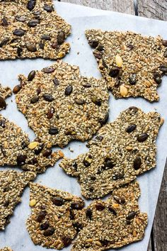 Light and crisp, these Rustic Seed Crackers are keto, gluten-free and vegan. This recipe is incredibly easy, flexible, adaptable and full of toasty rich flavor. They are the perfect snack by themselves, and pair with most toppings. Home Recipes, Whole Food Recipes, Dairy Free, Gluten Free, Plant Based Recipes, Gingerbread Cookies, Crackers, Crisp, Seeds