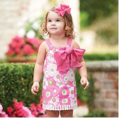 Lilly Pad Dress with Pink Bow