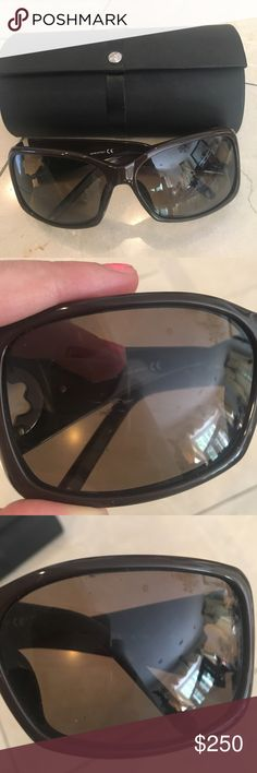 be88e348b25 Mont Blanc Sunglasses Tried to take as many pictures to show any possible  flaws ! I think there might be light scratching on the right side (see  picture) ...