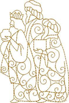 Three Wisemen Gifts embroidery design
