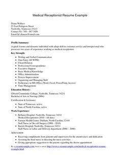 Receptionist Resume Sample  Starting Over Again