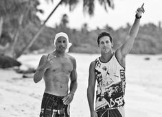 My two favorite surfers:  Kelly Slater and Andy Irons.