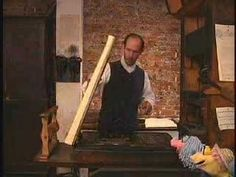 How a printing press worked in Ben\'s days...
