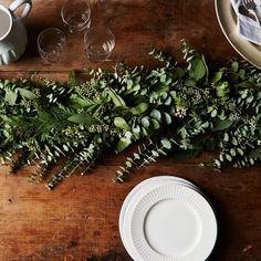 Check out the Cedar & Eucalyptus Garland in Garland & Bunting, Holiday Decor from for Table Garland, Greenery Garland, Garland Ideas, Christmas Diy, Christmas Decorations, White Christmas, Holiday Decorating, Christmas Wedding, Christmas Garlands