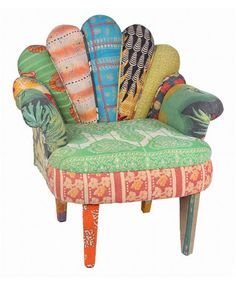 Take a look at this Orange & White Stripe Peacock Chair by Karma Living on #zulily today!