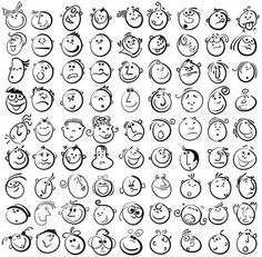Vector Illustration of People face cartoon vector icon vector art, clipart and stock vectors. Image of People face cartoon vector icon vector art, clipart and stock vectors. Funny Cartoon Faces, Drawing Cartoon Faces, Cartoon Expression, Cartoon Art, Cartoon Drawings Of People, Doodle Drawings, Easy Drawings, Doodle Art, Drawing Tips