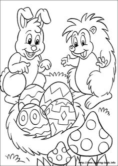Easter coloring picture