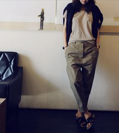 Those pants. | Slouchy | via death by elocution