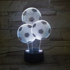 Prezzi e Sconti: visual stereo three football led ad Euro in Bedroom Night Light, Night Lamps, Desk Light, Lamp Light, Football Lights, Desktop Lamp, Design Your Dream House, Led Ceiling Lights, Lampe Led