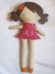 Custom Handmade Girl Cloth Doll by SewSheriSew on Etsy
