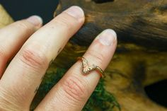 Ethical Raw Diamond Chevron Ring in Gold Types Of Crystals, Raw Stone Jewelry, Chevron Ring, Diamond Alternatives, Raw Diamond, Rustic Jewelry, Raw Gemstones, Teardrop Necklace, Conflict Free Diamonds