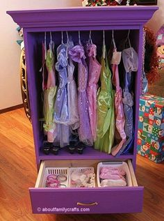 Kids closet from a chest of drawers!