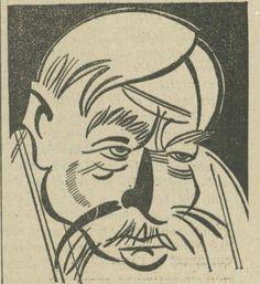 Paul Bourget par Soupault, Charivari 1934.