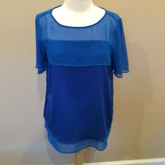FLASH SALEEUC Ann Taylor blue mesh top small Excellent used condition! Ann taylor blue mesh top size small. Only worn once! Beautiful color! Ann Taylor Tops