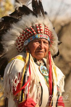 A Native American Sioux Chief. Nancy Greifenhagen Photography