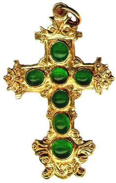 Emerald and gold cruciform pendant from the Atocha, sunk 1622.