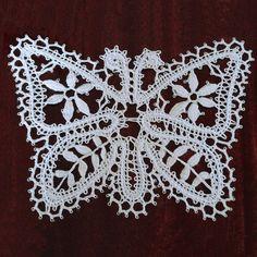 Bobbin lace butterfly