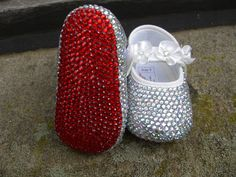 Baby's 1st Christmas - Crystal Louboutin shoes! OMG I LOVE LOVE LOVE these!! Addy must have these!