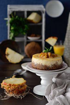 Cheesecake de piña colada (horneado)