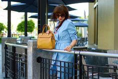 In blue trenchcoat              Madewell, Ootd, Tote Bag, My Style, Blue, Outfits, Women, Fashion, Colors