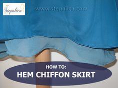 Stepalica tutorials: Learn how to hem a skirt made of chiffon, georgette or other fluid fabrics. Follow the link:  http://stepalica.blogspot.com/2013/09/nougat-dress-1301-sewalong-porubite.html #sewing, #nougat_dress, #hemming