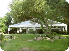 40' x 40' Clear Top Frame Tent - Wedding (Clear tent)