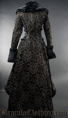 Evil Queen Coat by Dracula Clothing with out fur, just big collar and cuffs