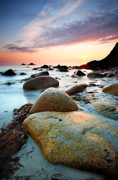 Low tide at Porth Nanven cove near St.Just, Lands End, Cornwall