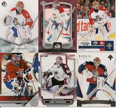 6 DIFFERENT JOSE THEODORE HOCKEY CARDS LOT
