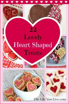 22 Lovely and Yummy Heart-Shaped Treats for Valentine #red #pink