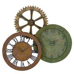 Rusty Gears Clock from Uttermost (06731), $272.00